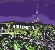 Hollywoodland (in Purple & Green) by kpmvfwd