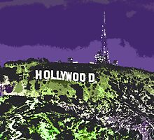 Hollywoodland (in Purple & Green) by kpmvfwd