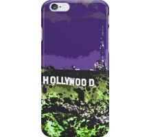 Hollywoodland (in Purple & Green) iPhone Case/Skin