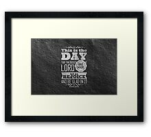 This is the DAY Framed Print
