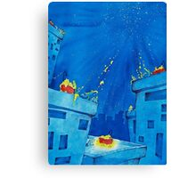 Bubbles, Bathtubs and Stars Canvas Print