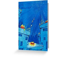 Bubbles, Bathtubs and Stars Greeting Card