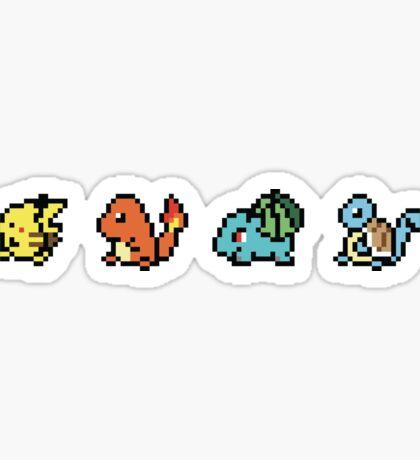 Pixel Pokemon Line Sticker