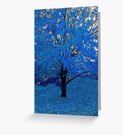Blue Tree Abstract Greeting Card