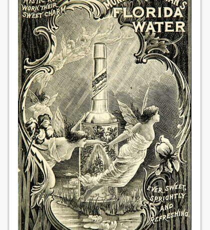 Vintage Flordia Water Vintage Advertisement Sticker