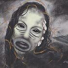 Realism Surrealism Drawing of Evil Dark Mermaid Siren by brittnideweese