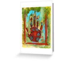 Abstract Chakra Hand Greeting Card
