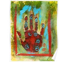 Abstract Chakra Hand Poster