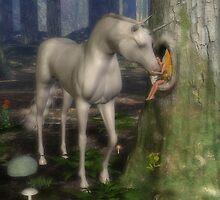 Unicorn and fairy by Annika Strömgren