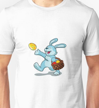 rabbit with Easter basket Unisex T-Shirt