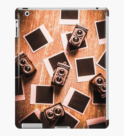 Abstract retro camera background iPad Case/Skin