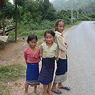 Laos children by Abby Tropea