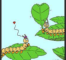 Caterpillar in Love by Hagen