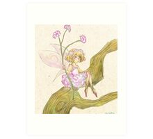 Baby's Breath Flower Fairy Art Print