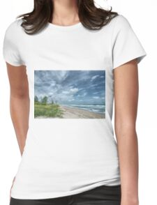 Blustery Coast Womens Fitted T-Shirt