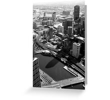 An aerial view of Melbourne... Greeting Card