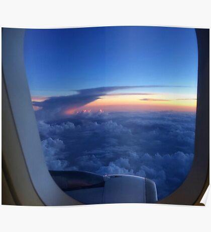 Window Seat at Daybreak Poster