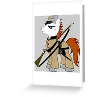 MLP Civil war soldier Greeting Card