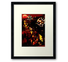 Painting The Town Red Framed Print