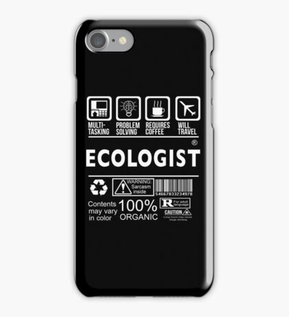 ECOLOGIST Will travel iPhone Case/Skin