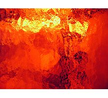 Abstract Heat Photographic Print
