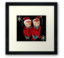 HANG US ON YOUR CHRISTMAS TREE..DONE FOR CHALLENGE Framed Print