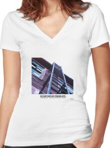 We dont need keys.. Urban Exploration Women's Fitted V-Neck T-Shirt