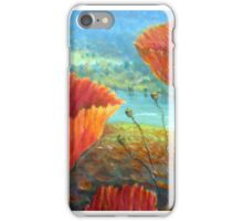 Poppy Field Provence, France iPhone Case/Skin