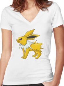 Jolteon Women's Fitted V-Neck T-Shirt