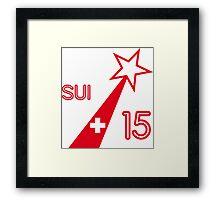 SWITZERLAND STAR  Framed Print