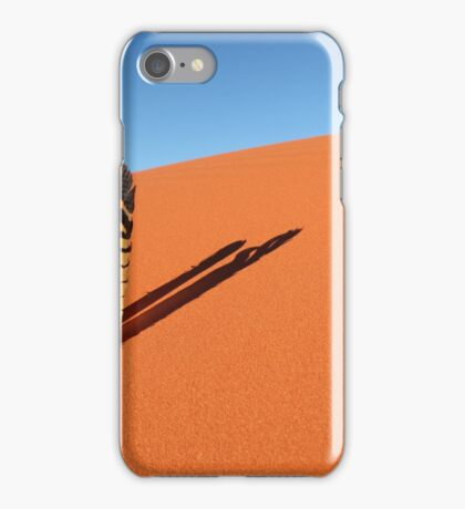 Cockatoo feathers in red sand dune iPhone Case/Skin