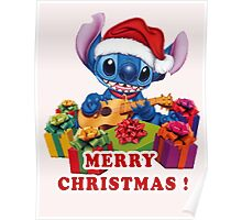 STITCH MERRY CHRISTMAS Poster