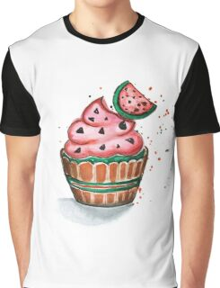Cake with chocolate and strawberry Graphic T-Shirt
