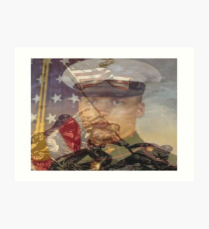 the pride of the marines and me Art Print