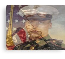 the pride of the marines and me Metal Print