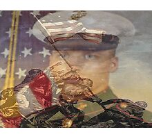 the pride of the marines and me Photographic Print