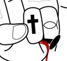 more metal than jesus Sticker