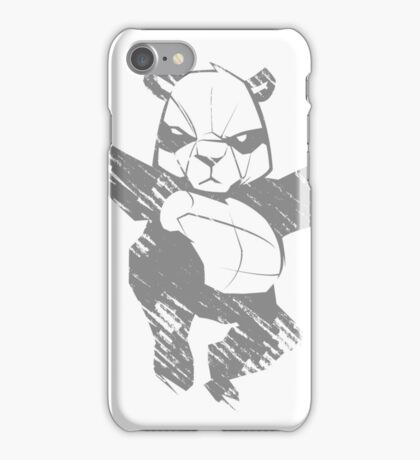 Sketch panda martial arts iPhone Case/Skin