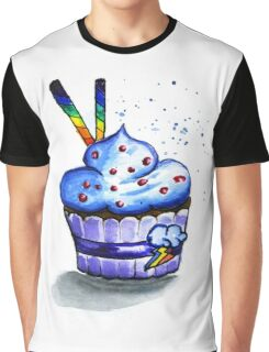 Cake with waffles. Watercolor painting Graphic T-Shirt