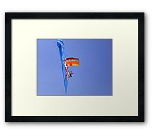 Australia Day Parachuting Framed Print