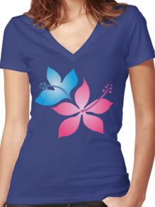 The Flowers Women's Fitted V-Neck T-Shirt