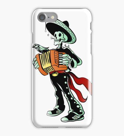 Skeleton mariachi musician. iPhone Case/Skin