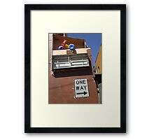 Weird Traffic Framed Print