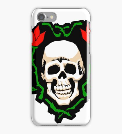 Skull and Flowers . iPhone Case/Skin