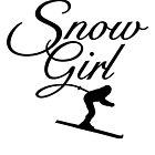 Snowgirl Après-Ski Skier Design by theshirtshops