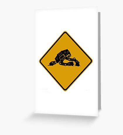 Falling Walkers Greeting Card