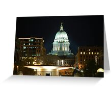 Madison State Capitol by Night Greeting Card