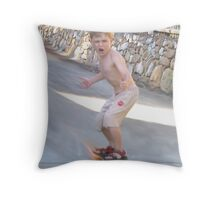 Fastest Kid in the World Throw Pillow