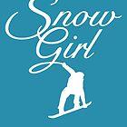 Snowgirl Après-Ski Snowboard Design (White) by theshirtshops