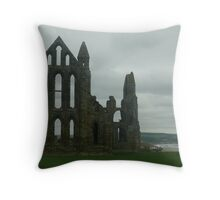 whitby abbey 2 Throw Pillow
